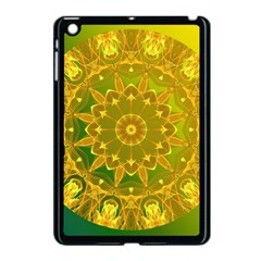 Yellow Green Abstract Wheel Of Fire Apple Ipad Mini Case (black) by DianeClancy