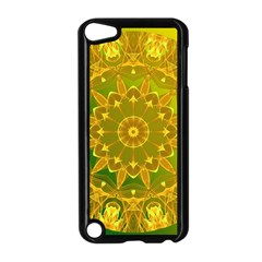 Yellow Green Abstract Wheel Of Fire Apple Ipod Touch 5 Case (black) by DianeClancy