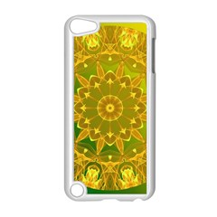 Yellow Green Abstract Wheel Of Fire Apple Ipod Touch 5 Case (white)