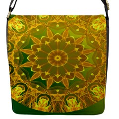 Yellow Green Abstract Wheel Of Fire Removable Flap Cover (small)