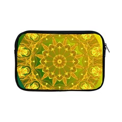 Yellow Green Abstract Wheel Of Fire Apple Ipad Mini Zippered Sleeve by DianeClancy