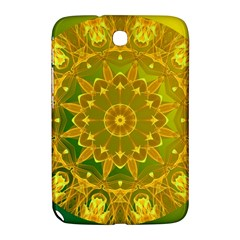 Yellow Green Abstract Wheel Of Fire Samsung Galaxy Note 8 0 N5100 Hardshell Case  by DianeClancy