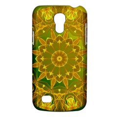 Yellow Green Abstract Wheel Of Fire Samsung Galaxy S4 Mini (gt I9190) Hardshell Case