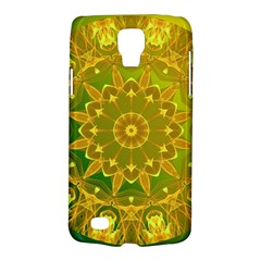 Yellow Green Abstract Wheel Of Fire Samsung Galaxy S4 Active (i9295) Hardshell Case