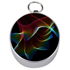 Imagine, Through The Abstract Rainbow Veil Silver Compass by DianeClancy
