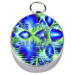 Irish Dream Under Abstract Cobalt Blue Skies Silver Compass by DianeClancy