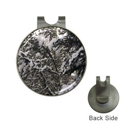 Snowy Trees Hat Clip With Golf Ball Marker by DmitrysTravels