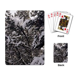 Snowy Trees Playing Cards Single Design by DmitrysTravels