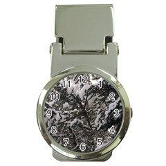 Snowy Trees Money Clip With Watch