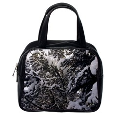 Snowy Trees Classic Handbag (one Side) by DmitrysTravels