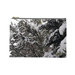 Snowy Trees Cosmetic Bag (large) by DmitrysTravels