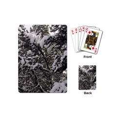 Snowy Trees Playing Cards (mini) by DmitrysTravels