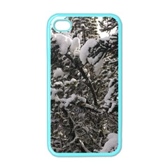 Snowy Trees Apple Iphone 4 Case (color) by DmitrysTravels