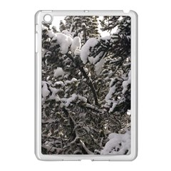 Snowy Trees Apple Ipad Mini Case (white) by DmitrysTravels
