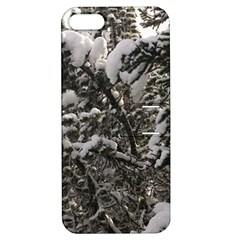 Snowy Trees Apple Iphone 5 Hardshell Case With Stand by DmitrysTravels