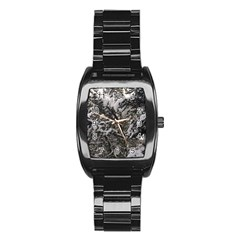 Snowy Trees Stainless Steel Barrel Watch by DmitrysTravels