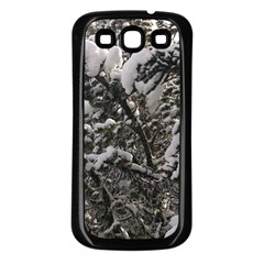 Snowy Trees Samsung Galaxy S3 Back Case (black) by DmitrysTravels