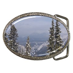 Trees Belt Buckle (oval)