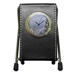 Trees Stationery Holder Clock by DmitrysTravels