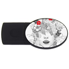 Flower Child 4gb Usb Flash Drive (oval) by StuffOrSomething