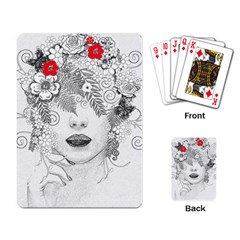 Flower Child Playing Cards Single Design by StuffOrSomething