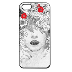 Flower Child Apple Iphone 5 Seamless Case (black) by StuffOrSomething