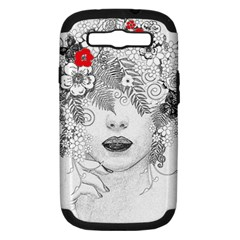 Flower Child Samsung Galaxy S Iii Hardshell Case (pc+silicone) by StuffOrSomething