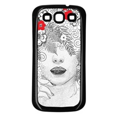 Flower Child Samsung Galaxy S3 Back Case (black) by StuffOrSomething