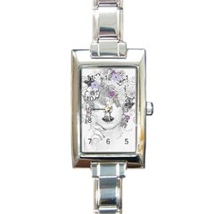 Flower Child Of Hope Rectangular Italian Charm Watch by FunWithFibro