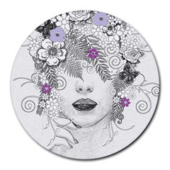 Flower Child Of Hope 8  Mouse Pad (round) by FunWithFibro