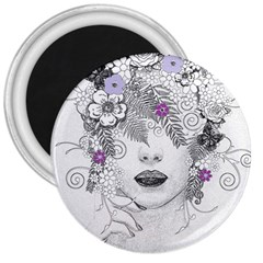 Flower Child Of Hope 3  Button Magnet by FunWithFibro