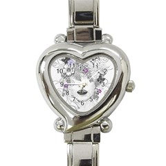 Flower Child Of Hope Heart Italian Charm Watch  by FunWithFibro