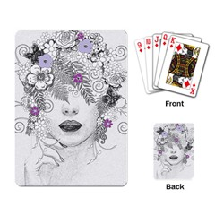 Flower Child Of Hope Playing Cards Single Design by FunWithFibro
