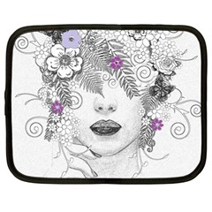 Flower Child Of Hope Netbook Sleeve (xl) by FunWithFibro