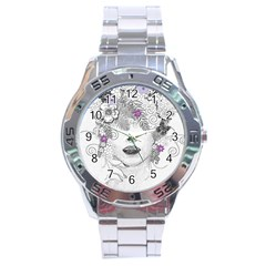 Flower Child Of Hope Stainless Steel Watch by FunWithFibro