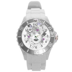Flower Child Of Hope Plastic Sport Watch (large) by FunWithFibro
