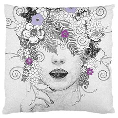 Flower Child Of Hope Large Cushion Case (two Sided)  by FunWithFibro