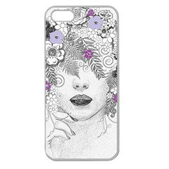 Flower Child Of Hope Apple Seamless Iphone 5 Case (clear) by FunWithFibro
