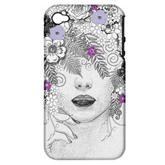 Flower Child Of Hope Apple Iphone 4/4s Hardshell Case (pc+silicone) by FunWithFibro