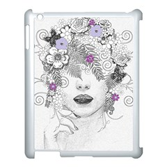 Flower Child Of Hope Apple Ipad 3/4 Case (white) by FunWithFibro