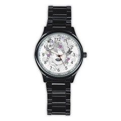 Flower Child Of Hope Sport Metal Watch (black) by FunWithFibro