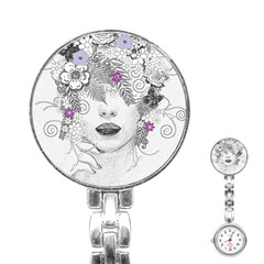 Flower Child Of Hope Stainless Steel Nurses Watch by FunWithFibro