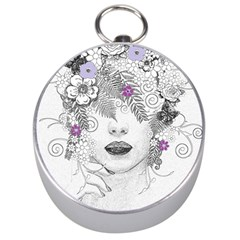 Flower Child Of Hope Silver Compass by FunWithFibro