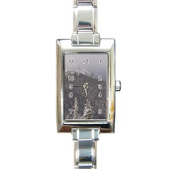 Mountains Rectangular Italian Charm Watch by DmitrysTravels