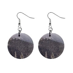 Mountains Mini Button Earrings by DmitrysTravels