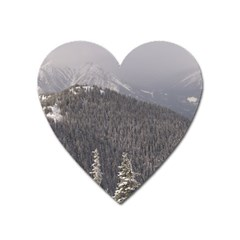 Mountains Magnet (heart) by DmitrysTravels