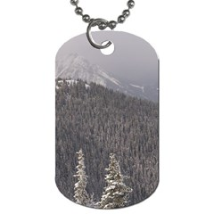 Mountains Dog Tag (one Sided) by DmitrysTravels