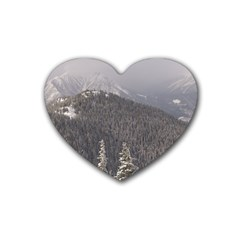 Mountains Drink Coasters 4 Pack (heart)