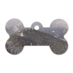 Mountains Dog Tag Bone (two Sided) by DmitrysTravels