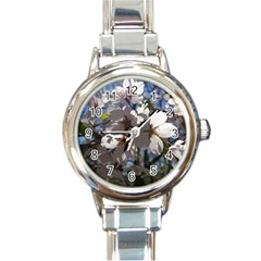 Cherry Blossoms Round Italian Charm Watch by DmitrysTravels